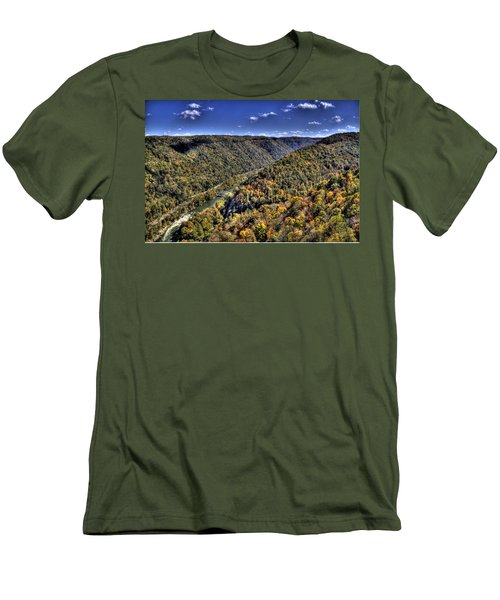 River Running Through A Valley Men's T-Shirt (Athletic Fit)