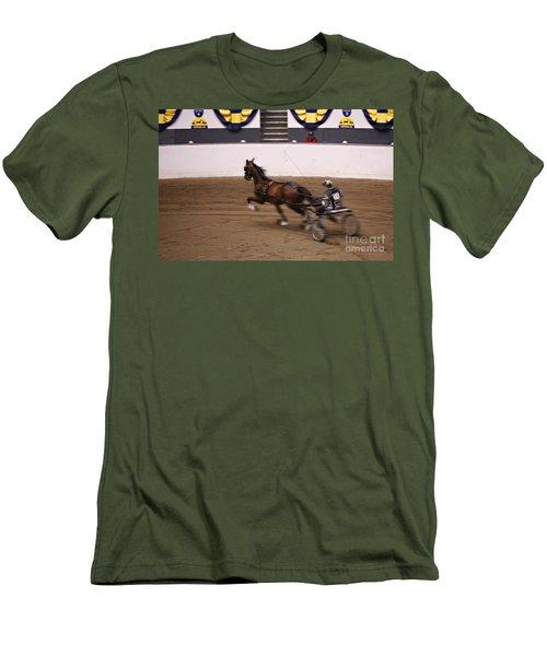 Road Pony At Speed Men's T-Shirt (Slim Fit) by Carol Lynn Coronios