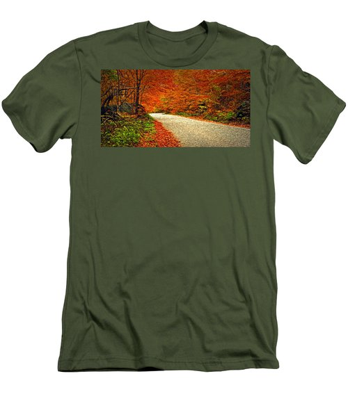 Road To Nowhere Men's T-Shirt (Slim Fit) by Bill Howard