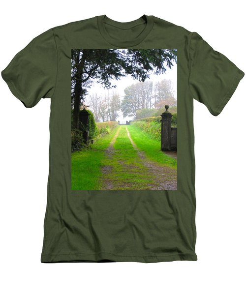 Men's T-Shirt (Slim Fit) featuring the photograph Road To Nowhere by Suzanne Oesterling