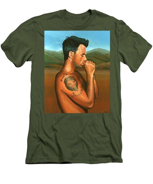 Robbie Williams 2 Men's T-Shirt (Slim Fit) by Paul Meijering