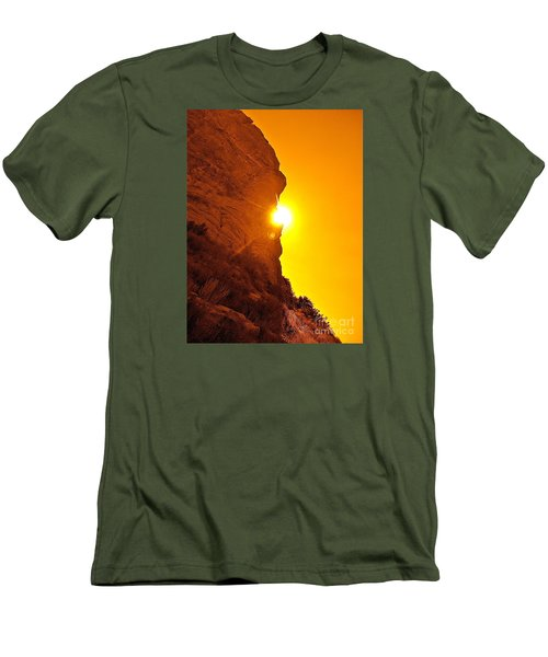 Rock Eclipse  Men's T-Shirt (Slim Fit) by Gem S Visionary