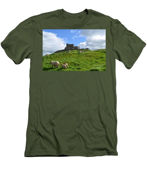 Rock Of Cashel In The Distance Men's T-Shirt (Slim Fit) by DejaVu Designs