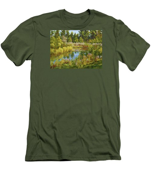 Rock Valley Pond Rockford Il Men's T-Shirt (Slim Fit) by Alexandra Maria Ethlyn Cheshire