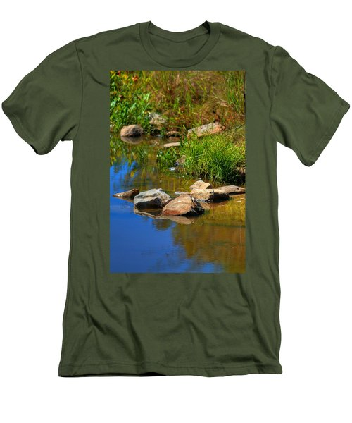 Men's T-Shirt (Slim Fit) featuring the photograph A Clear Reflection by Ester  Rogers