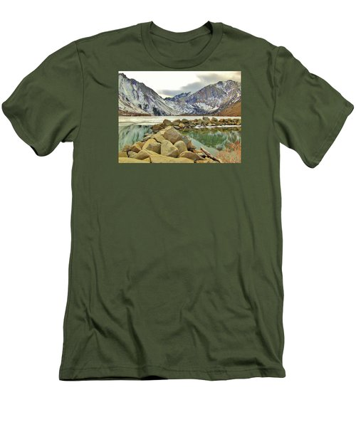 Men's T-Shirt (Slim Fit) featuring the photograph Rocks by Marilyn Diaz
