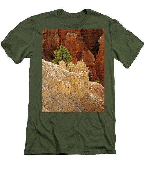 Men's T-Shirt (Slim Fit) featuring the photograph Rocky Embrace by Meghan at FireBonnet Art