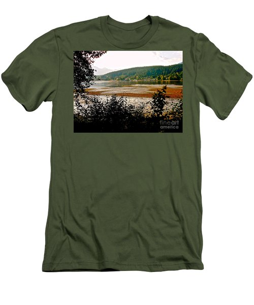Men's T-Shirt (Slim Fit) featuring the photograph Rocky Point Port Moody by Sher Nasser