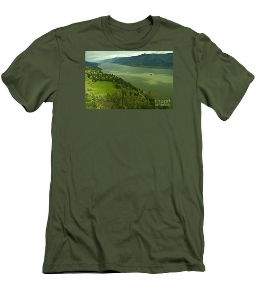 Roll On Columbia Roll On Men's T-Shirt (Slim Fit) by Nick  Boren