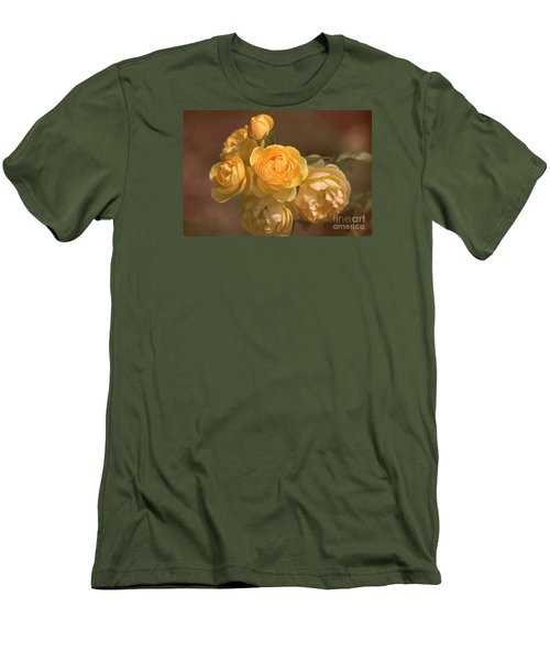 Romantic Roses Men's T-Shirt (Slim Fit) by Joy Watson
