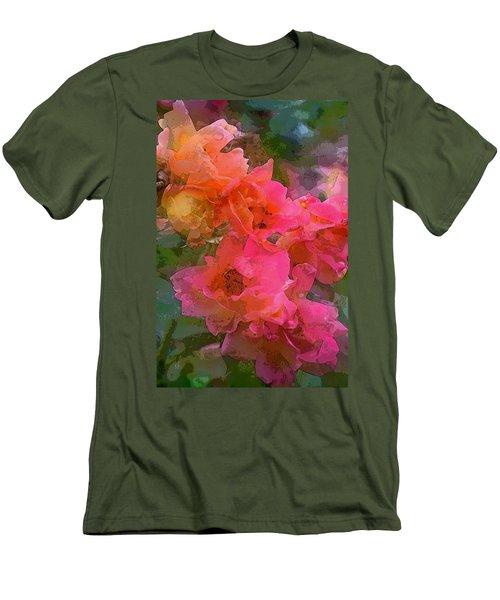 Rose 219 Men's T-Shirt (Slim Fit) by Pamela Cooper