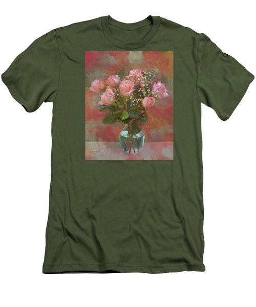 Rose Bouquet Men's T-Shirt (Athletic Fit)