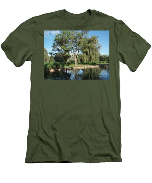 Men's T-Shirt (Slim Fit) featuring the photograph Rose Garden  by Jeannie Rhode
