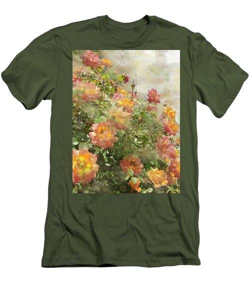 Rose Potpourri Men's T-Shirt (Slim Fit) by Natalie Ortiz