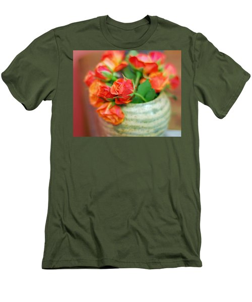 Men's T-Shirt (Slim Fit) featuring the photograph Roses by Lisa Phillips