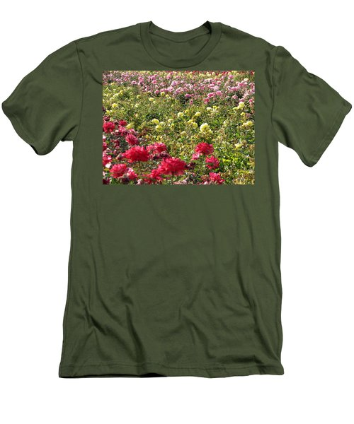 Men's T-Shirt (Slim Fit) featuring the photograph Roses Roses Roses by Laurel Powell