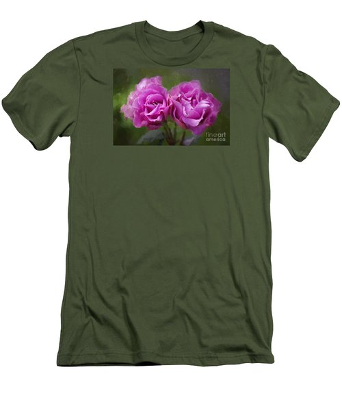 Men's T-Shirt (Slim Fit) featuring the photograph Rosey Twins by Adria Trail