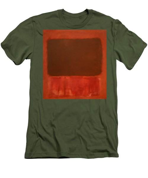 Rothko's Mulberry And Brown Men's T-Shirt (Slim Fit)