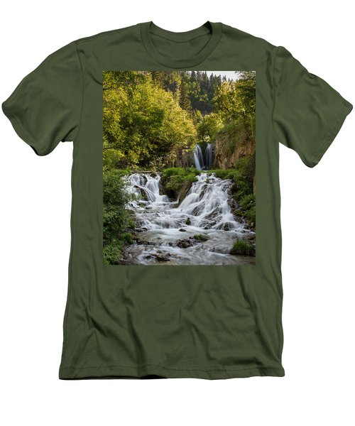 Men's T-Shirt (Slim Fit) featuring the photograph Roughlock Falls South Dakota by Patti Deters