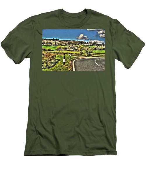 Men's T-Shirt (Slim Fit) featuring the photograph Round The Bend by Doc Braham