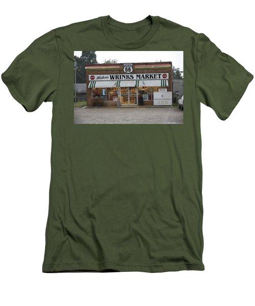 Route 66 - Wrink's Market Men's T-Shirt (Slim Fit) by Frank Romeo