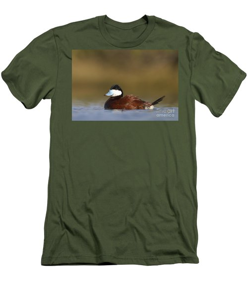 Men's T-Shirt (Slim Fit) featuring the photograph Ruddy Duck  by Bryan Keil