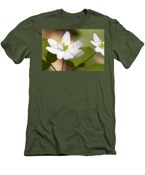 Rue Anemone Men's T-Shirt (Slim Fit) by Melinda Fawver