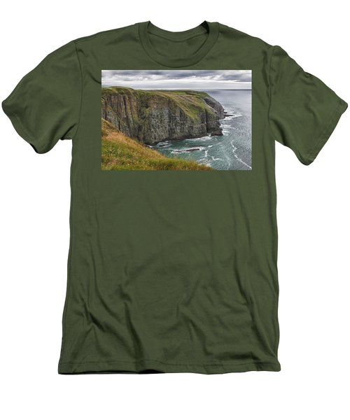 Men's T-Shirt (Slim Fit) featuring the photograph Rugged Landscape by Eunice Gibb