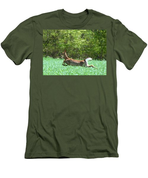 Men's T-Shirt (Slim Fit) featuring the photograph Run Forest Run by Neal Eslinger