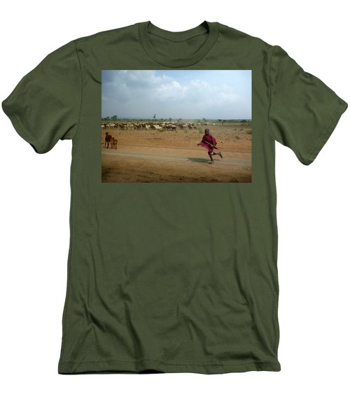 Running Boy Men's T-Shirt (Athletic Fit)