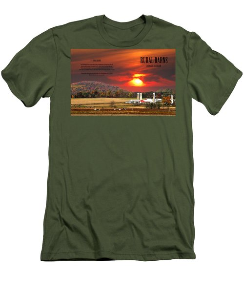 Men's T-Shirt (Slim Fit) featuring the photograph Rural Barns  My Book Cover by Randall Branham