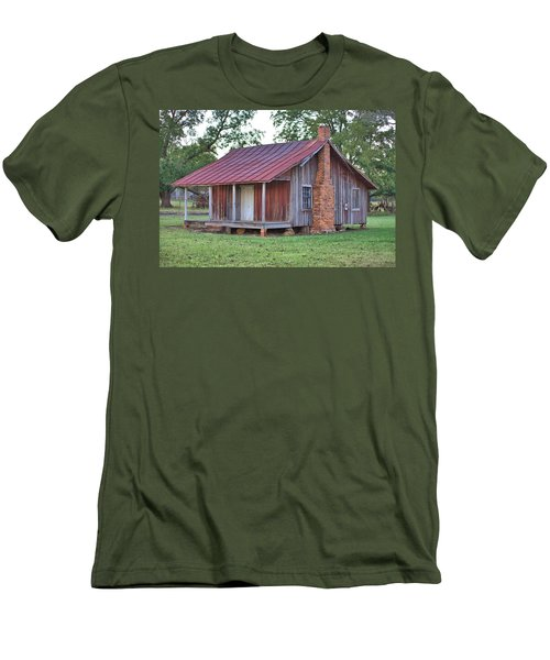 Men's T-Shirt (Slim Fit) featuring the photograph Rural Georgia Cabin by Gordon Elwell