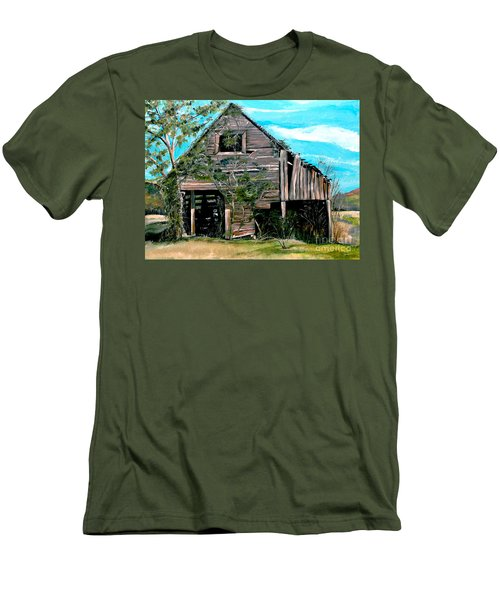 Rustic Barn - Mooresburg - Tennessee Men's T-Shirt (Slim Fit) by Jan Dappen