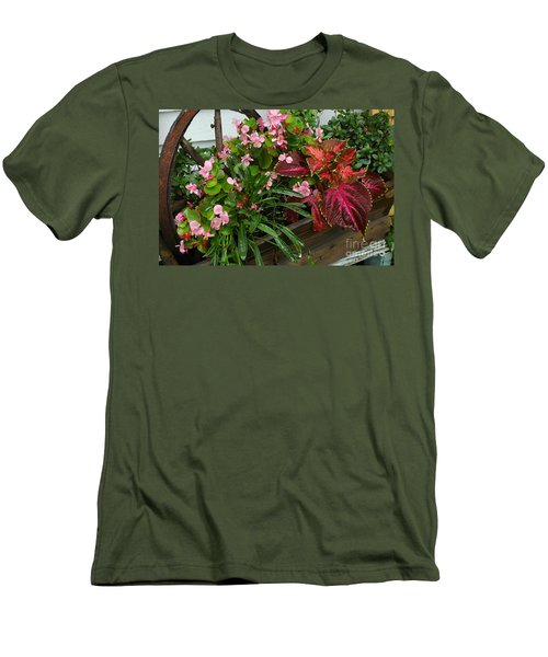 Men's T-Shirt (Slim Fit) featuring the photograph Rustic Garden by Christiane Hellner-OBrien
