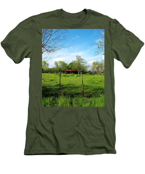 Rustic Land Of Beauty - Rural Texas Men's T-Shirt (Athletic Fit)