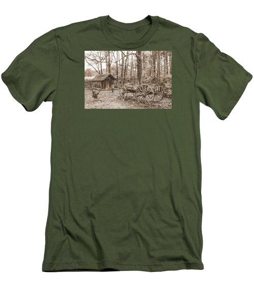 Rustic Wagon Men's T-Shirt (Slim Fit) by Debbie Green