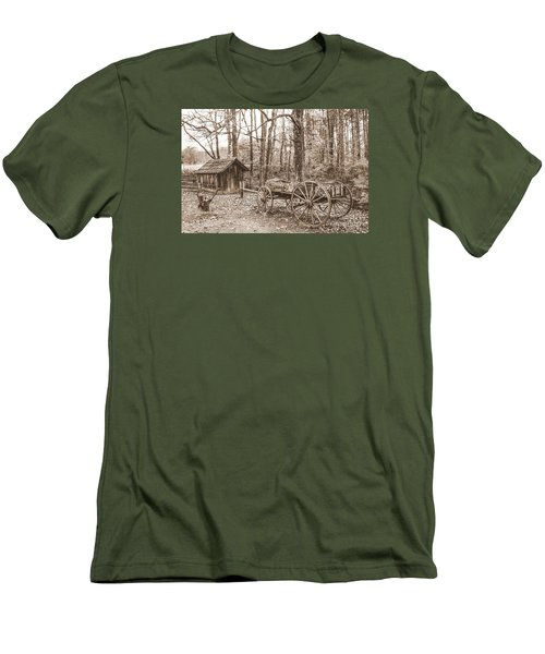 Rustic Wagon Men's T-Shirt (Athletic Fit)