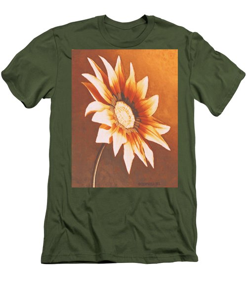 Rusty Gazania Men's T-Shirt (Athletic Fit)