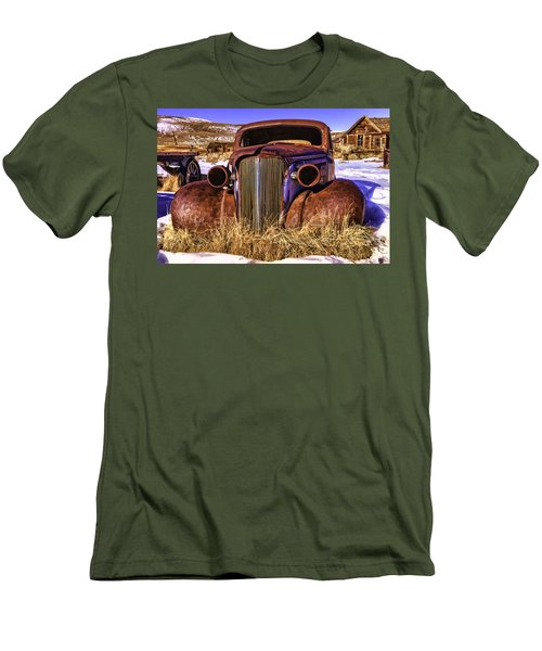 Men's T-Shirt (Slim Fit) featuring the painting Rusty by Muhie Kanawati
