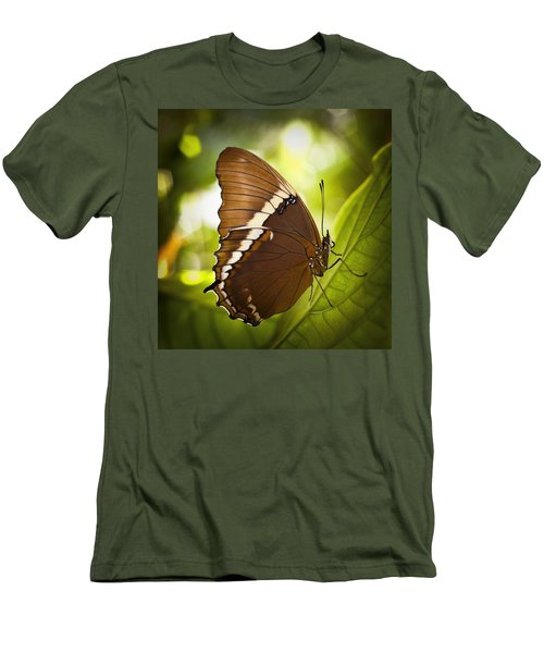 Rusty Tip Butterfly Men's T-Shirt (Slim Fit) by Bradley R Youngberg