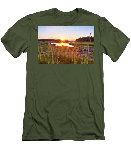 Rye Marsh Sunset Men's T-Shirt (Athletic Fit)