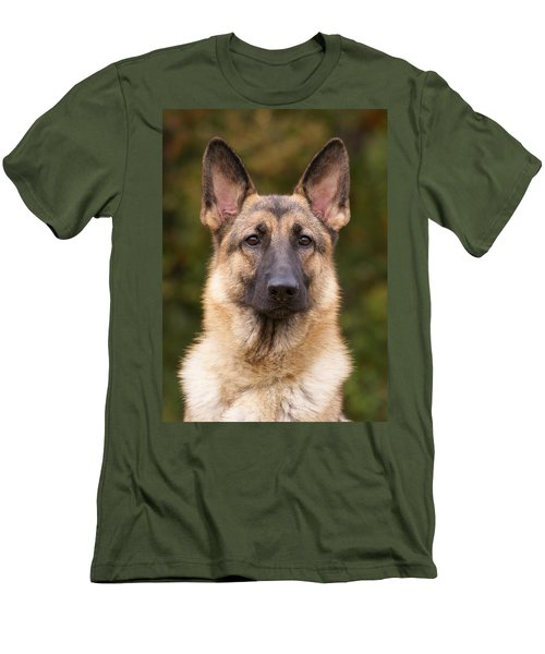 Sable German Shepherd Dog Men's T-Shirt (Athletic Fit)