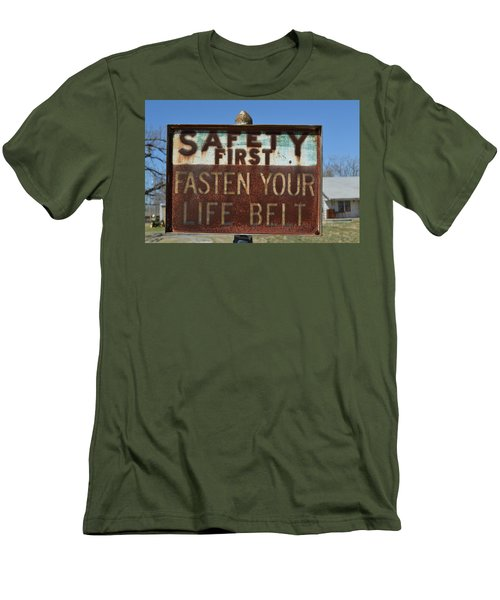 Safety First Men's T-Shirt (Athletic Fit)