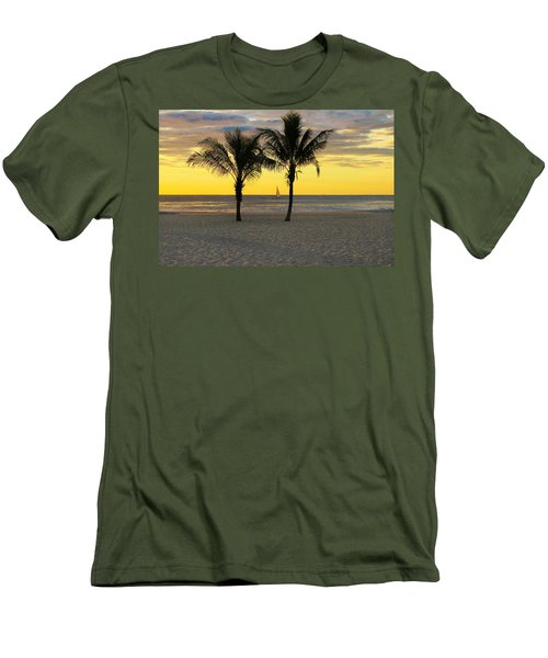 Sail Away At Dawn Men's T-Shirt (Athletic Fit)