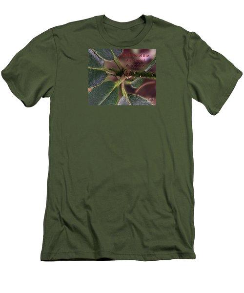 Men's T-Shirt (Slim Fit) featuring the photograph Saint Michael The Archangel by Jean OKeeffe Macro Abundance Art