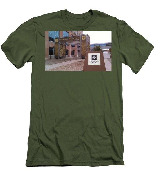Saints - Champions Square - New Orleans La Men's T-Shirt (Athletic Fit)