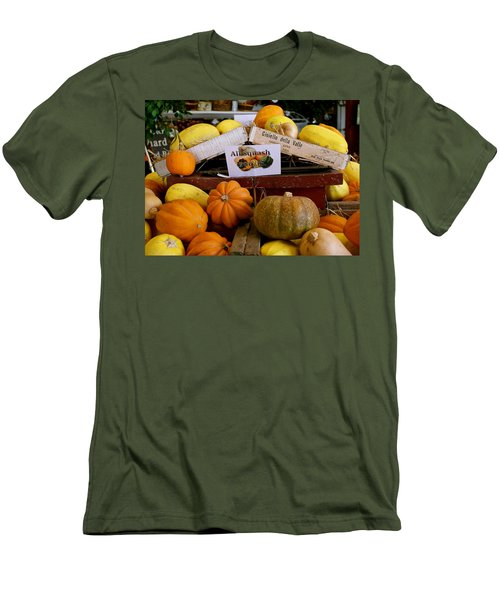 Men's T-Shirt (Athletic Fit) featuring the photograph San Joaquin Valley Squash Display by Michele Myers