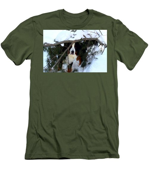 Sam And His Fort Men's T-Shirt (Slim Fit) by Patti Whitten