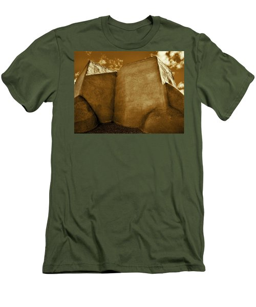 Men's T-Shirt (Slim Fit) featuring the photograph San Francisco De Asis Mission Church Taos II by John Hansen