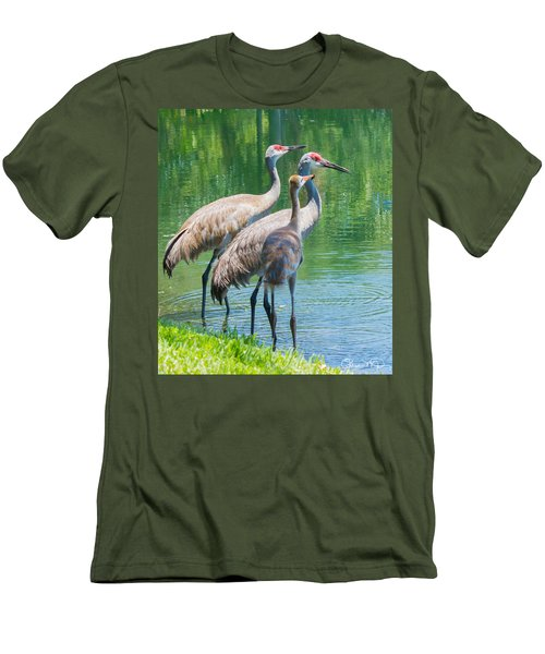 Mom Look What I Caught Men's T-Shirt (Slim Fit) by Susan Molnar